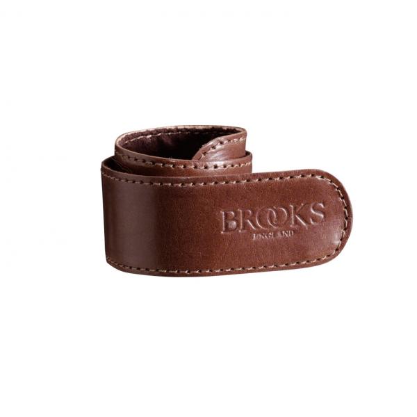 Brooks Trousers Strap, Hosenclip, mittelbraun